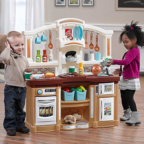 Step2 Fun with Friends Kitchen | Large Plastic Play Kitchen with Realistic Lights