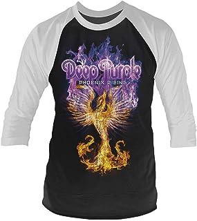 Deep パープル T Shirt Phoenix Rising 新しい 公式 メンズ ホワイト 3/4 Sleeve