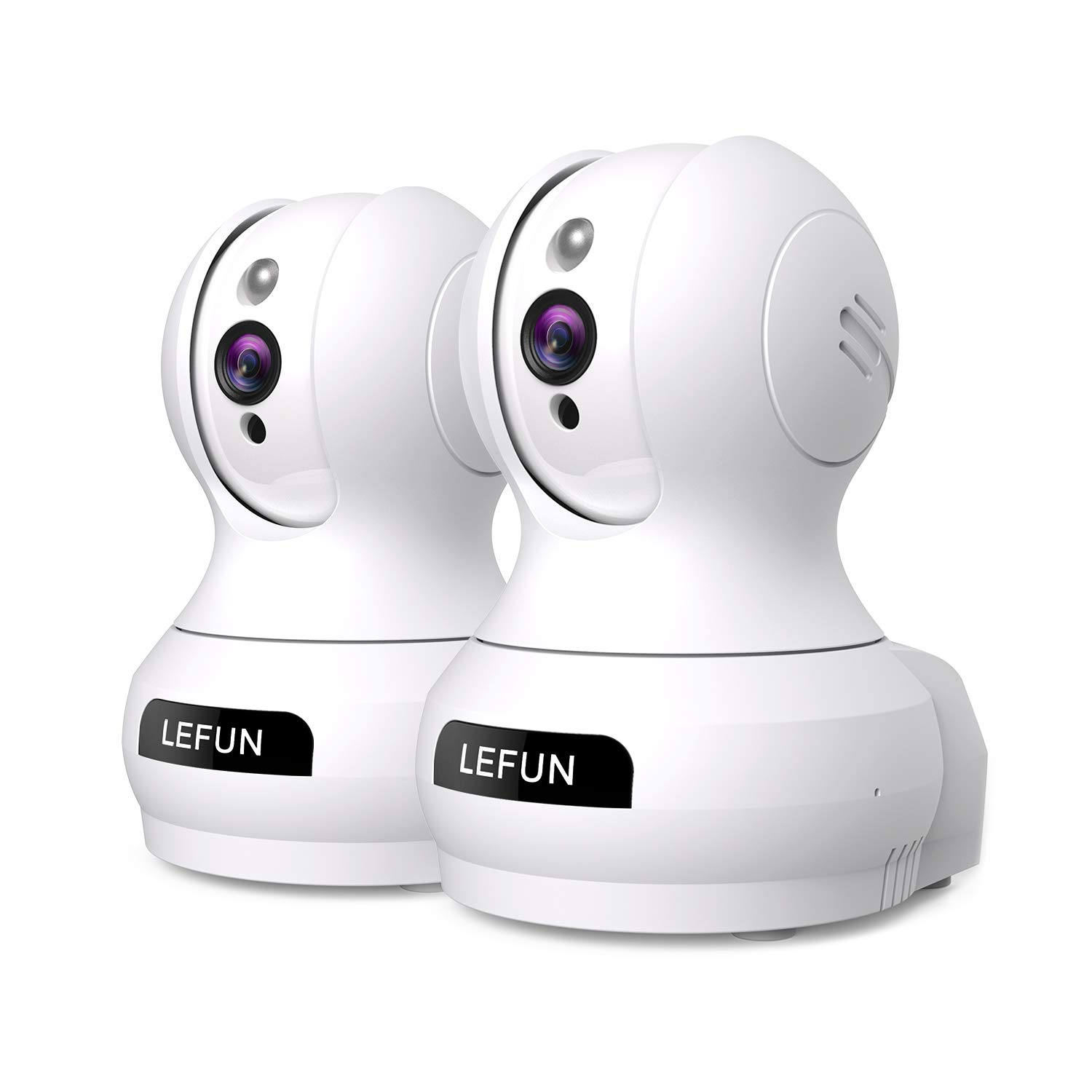 Wireless Lefun Surveillance Monitoring 2pack White