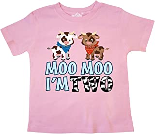 inktastic Moo Moo I'm 2 with Cute Holstein Cows Toddler T-Shirt