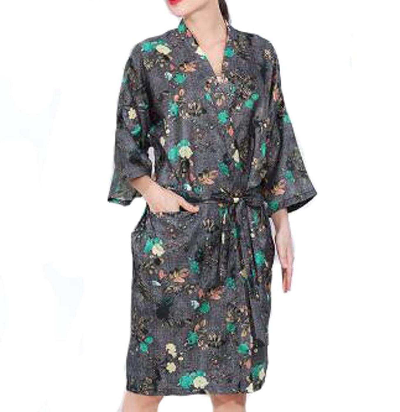 ラッカスチーフここにヨーロッパスタイルのサロンクライアントのガウンローブ、美容院のドレス、黒