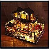 MEILINL Casa De Muñecas En Miniatura De Bricolaje Equipo Casa Japonesa Cherry Blossoms House Exquisitos Objetos De Colección para Regalo De Cumpleaños Y Hogar