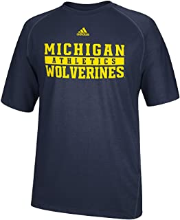 adidas Michigan Wolverines NCAA 2014 Sideline Shock Performance Shirt
