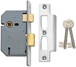 Union Sloten 2277 3 Hendel Insteekslot 65mm - Satijn Chrome (Visi Pack)