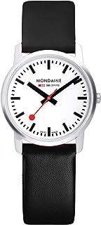 Mondaine - Simply Elegant - Reloj de Cuero Negro para Hombre y Mujer, A638.30350.11SBB, 41 MM