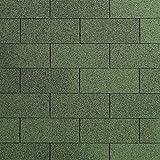 Dachschindeln RECHTECK 3 m² mit Glasvlieseinlage Bitumenschindeln Schindeln Dacheindeckung Gartenhaus Rechteckschindeln (Grün)