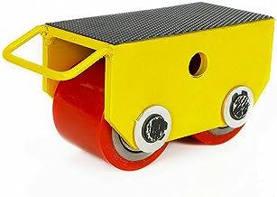 Transportwielen met 2 vaste wielen, 2,5 t/5500 lb (geel)
