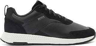 BOSS Herren Titanium Runn Lowtop Sneakers aus Nappa- und Veloursleder Größe