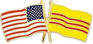 USA and South Vietnam Crossed Friendship Flag Enamel Lapel Pin
