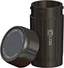 Canniloq - 120cc Jet Black - Reinforced Polymer Odor Smell Proof Container and Airtight Locking Stash Jar for Herbs, Coffee, Spices, Tea and Other Dry Goods