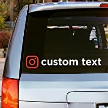 Oliver's Labels Custom Vinyl Instagram Window Car Decal Sticker Choose Font, Color and Text