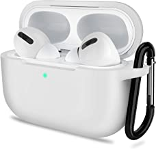 AirPods Pro Case, ATUAT Protective Silicone Cover Compatible with Apple AirPods Pro (2019) - White