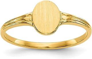 Diamond2Deal - Anello da uomo in oro giallo massiccio 14 kt