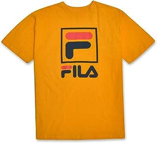Fila Big and Tall Mens Stacked Logo Cotton T Shirt