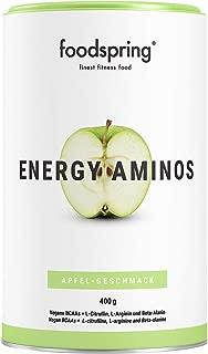 foodspring - Energy Aminos - Sabor Manzana - El chute de energía 100% natural - Aminoácidos BCAA vegetales - 400g