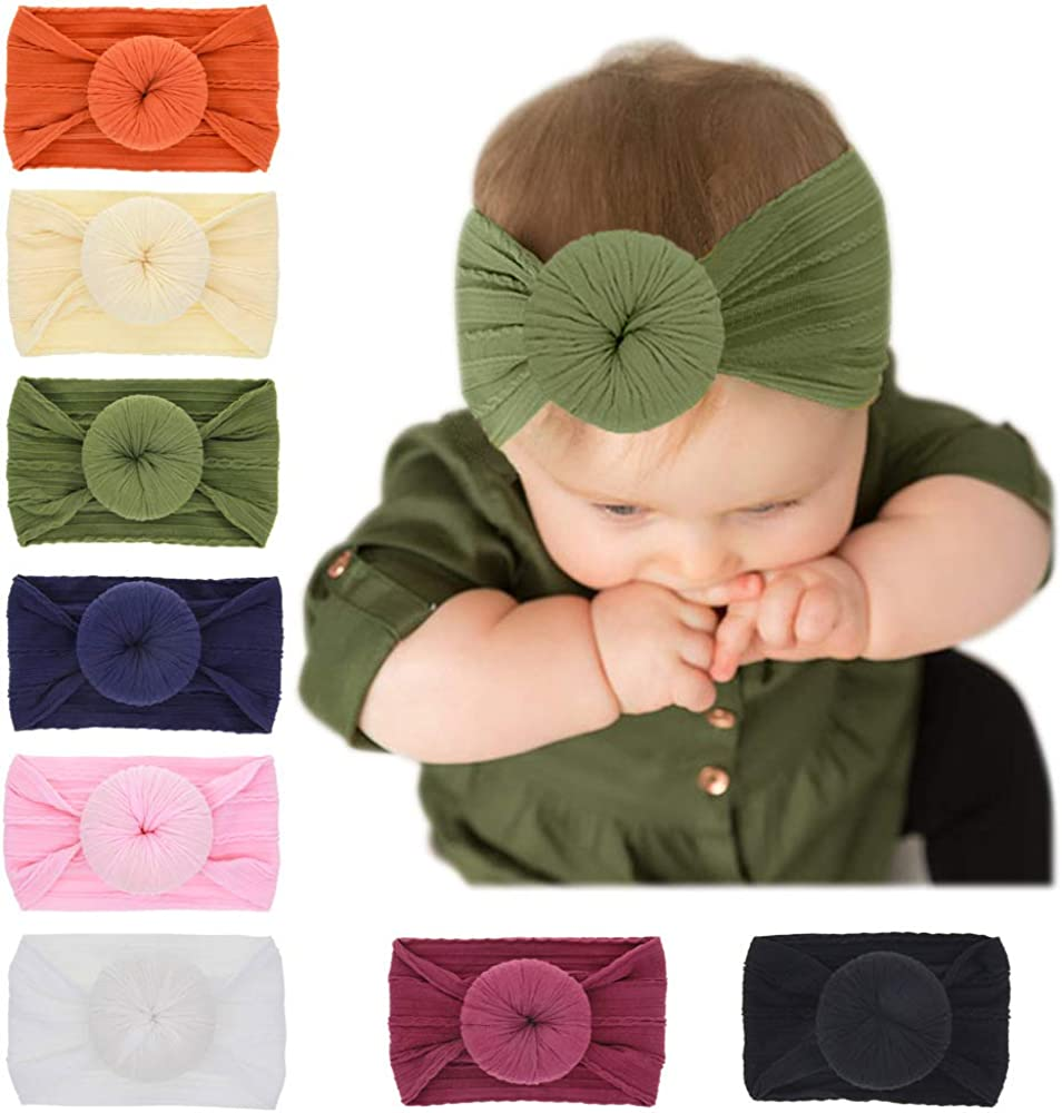 8 Today's only Pack Baby Girl Nylon Headbands Toddler H babies 2021new shipping free Infant Newborn