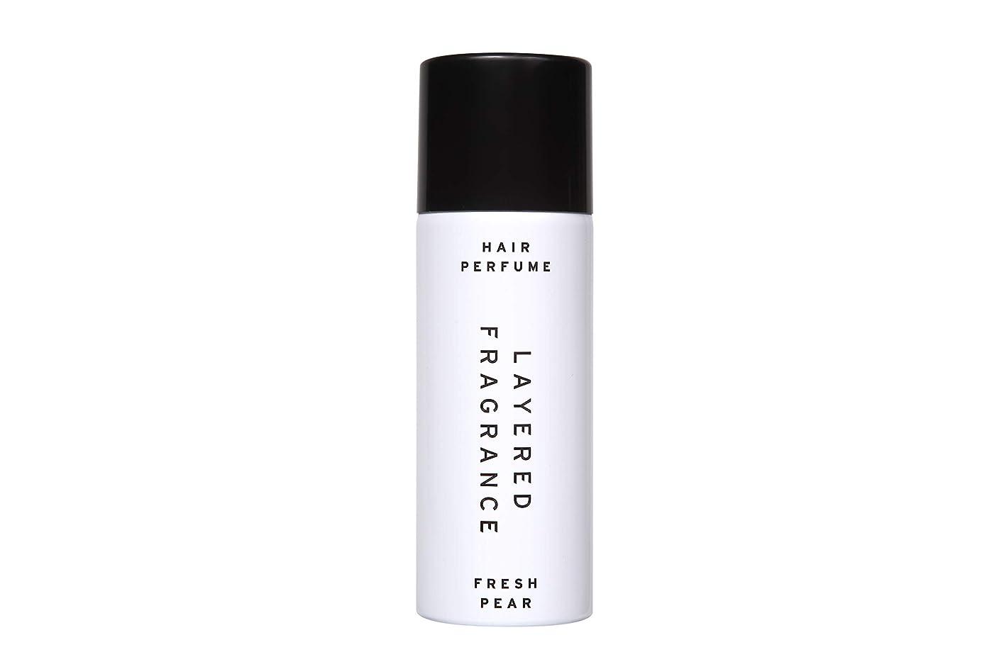 克服する音節ラップレイヤードフレグランス ヘアトリートメントパフューム フレッシュペア LAYERED FRAGRANCE HAIR TREATMENT PERFUME FRESH PEAR