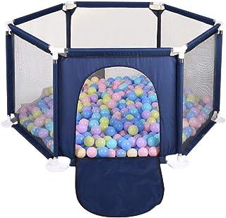 Bloomma Valla de Seguridad para niños. Juego Valla Plegable Al Aire Libre Cerca de Seis Lados Colorido Bola Piscina Carpa Juego Casa Juegue Cerca