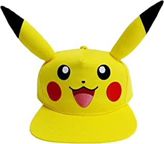 Bioworld Pokémon Pikachu Big Face with Ears Youth Snapback Hat Yellow