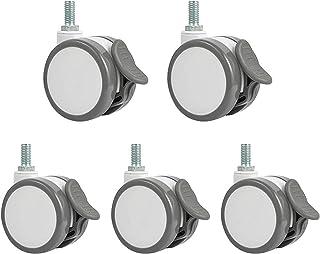 YJJT Draaibare zwenkwielen - vervangingswiel, ontwerp met twee wielen, milieuvriendelijke materialen, flexibele rotatie, s...