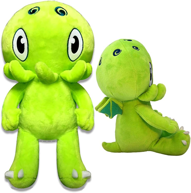 C is for Cthulhu Jumbo Plush (Green, 2 Feet Tall)