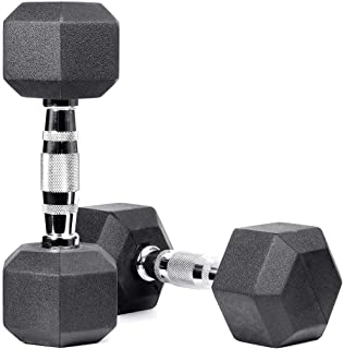 Meteor Rubber Hex Dumbbell Fitness Gym Strength Weight Training Exercise Workout