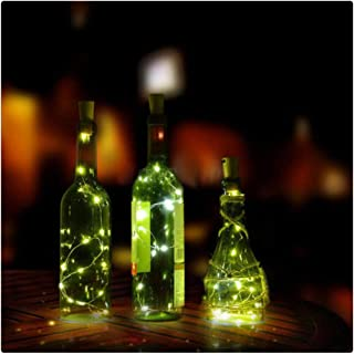 Kanzd 8LED Copper Wire Wine Bottle Cork Shape Light Starry Light Wedding Decor