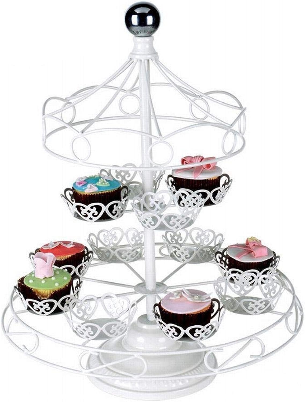 JKHOIUH Stand De Gateau En Fer Forgé Créatif Mariage 2 Couches Support De Fleurs Patisserie Présentoir à Desserts Anniversaire Multicouche (Taille   2)