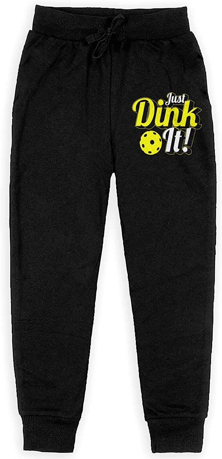 WDFEWA Just Dink It Sweatpants Teenager Sport Trousers Athletic FUUNY Pants for Boys Girls