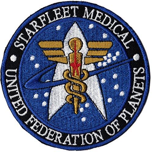 Star Fleet Medical United Federation of planets–Star Wars Trek Uniforme parche