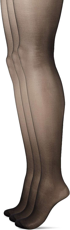 SABRINA Women's Ultra Sheer Black Pantyhose 25 Denier Reinforced Toe Stockings