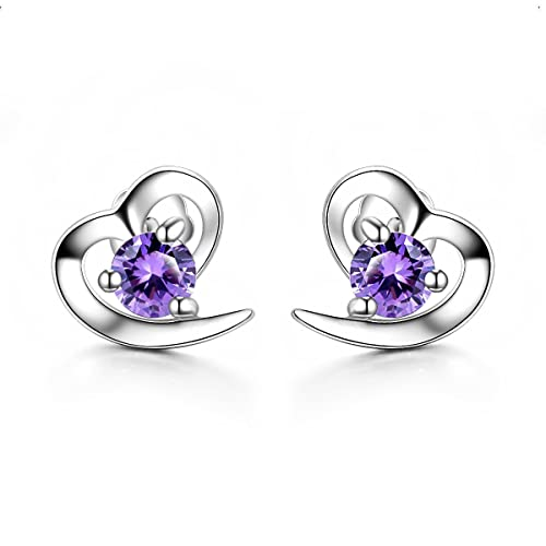 f1e51b3fb3 ONECK【New Year Sales】Earrings Studs Silver Jewellery 5A Cubic Zirconia 925  Sterling Silver