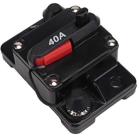 Suuonee Auto Leistungsschalter 12v 30a 40a 60a Auto Stereo Audio Reset Inline Leistungsschalter Selbstwiederherstellung Wasserdichte Sicherung Für Leistungsschalter 40a Auto