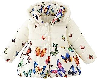 Baby Girls Winter Autumn Warm Butterfly Little Kids Toddler Jacket Coat
