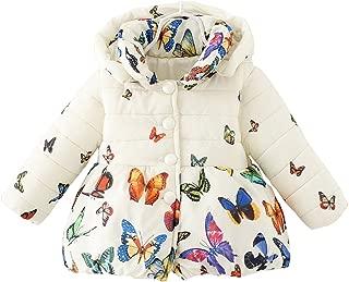 Baby Girls Winter Autumn Cotton Warm Butterfly Jacket Coat