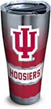 Tervis 1266061 Indiana Hoosiers Knockout Stainless Steel Tumbler with Clear and Black Hammer Lid 30oz, Silver