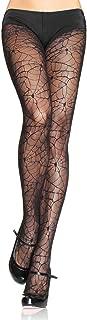 Women's Lace Spiderweb Tights, black, One Size