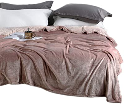 34e9eca702 BeddingHome Ultra Soft Lightweight Velvet Quilts Bed Sofa Travel Throw  Blanket-70 78