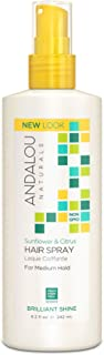 Andalou Naturals Perfect Hold Hair Spray, Sunflower and Citrus, 8.2 fl. Oz.