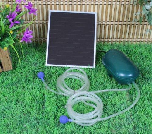 Wehmann Solar Power Doppel Belüfterpumpe 200 l/h Teichbelüfter für Tag und Nacht !!!