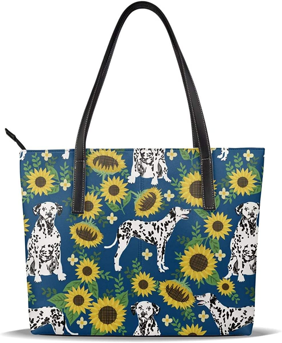 White National products Dog Sunflower Flower Yellow Pattern Printed PU Genuine Leather Cas