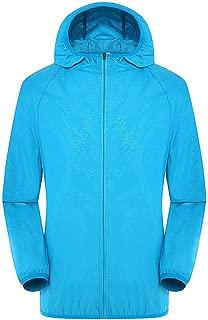 JJHAEVDY Men's Women Lightweight Zip Up Sports Jacket Windproof Windbreaker Waterproof Breathable Cycling Running Hoodie
