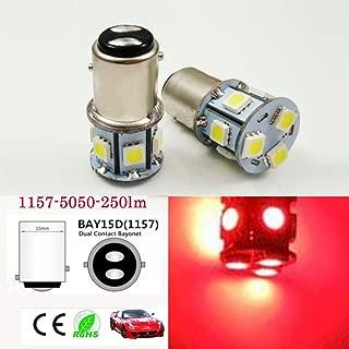 6V DC 1157 BAY15D 5050 8-SMD LED Replacement Bulb For Reverse light, Turn signal light, Tail light, Brake light, Daytime Running Light (4PCS, Red)