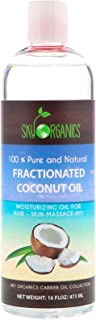 Sky Organics, Fractionated Coconut Oil, 100% Pure and Natural, 16 fl oz (473 ml)