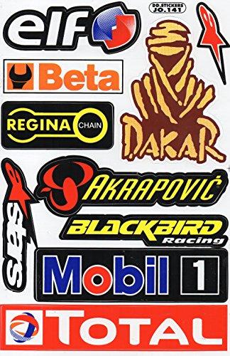 Sponsor corsa della decalcomania Tuning Racing Dimensioni foglio: 27 x 18 cm per auto o moto