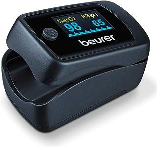 Beurer PO 45 Pulsoximeter, meting van zuurstofverzadiging (SpO2), hartslag (puls) en perfusie-index (PI), pijnloos gebrui...