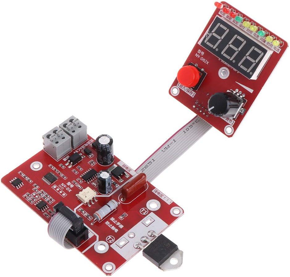 40A BIlinli Control de la Corriente del Tiempo de la m/áquina de Soldadura del Soldador por Puntos del codificador de Pulso Doble 100A