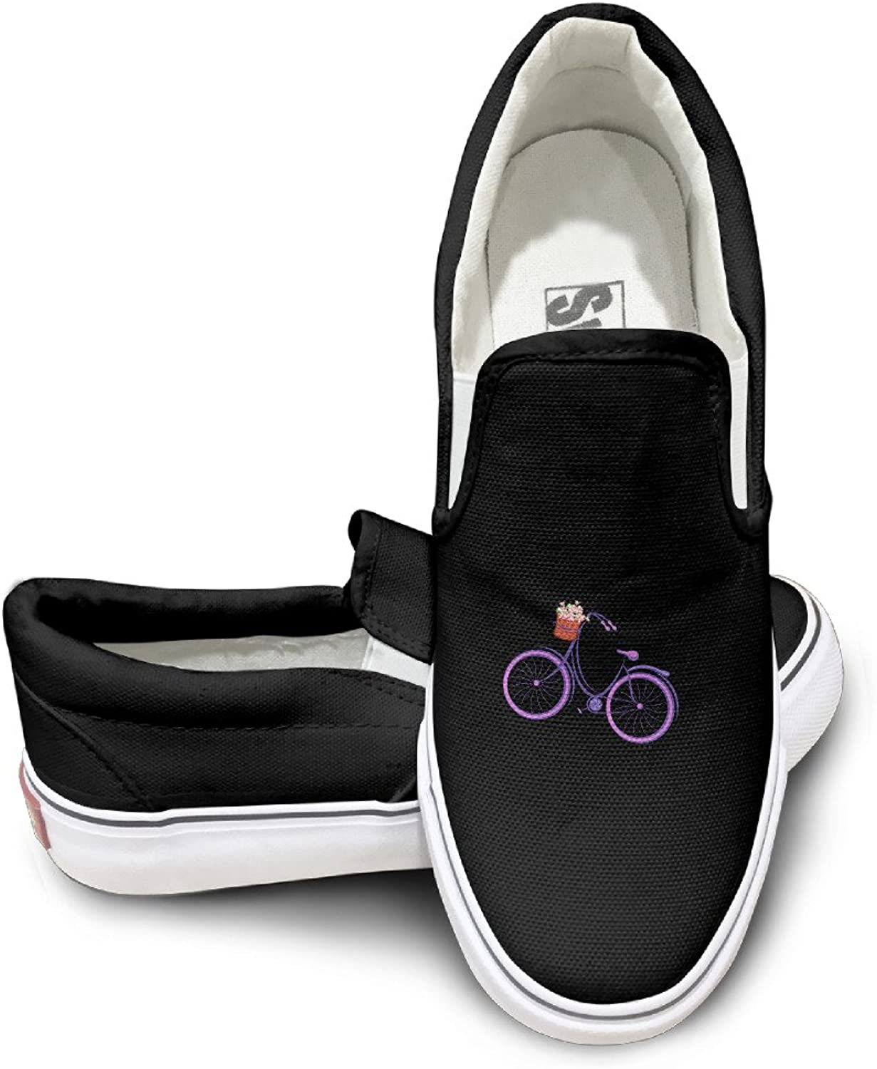 Alexander Maia Purple Bicycle Classical Unisex Wonderful Low-top Canvas shoes White and Black colors with Heel Height 3CM