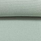 Die Stofftante / Waffelpique/Nelson/Dusty Mint / 0,5 m x