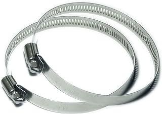 ステンレス鋼 調整可能 ホースクランプ ホースバンド パイプクランプ 2個入 (直径Φ78~101mm)